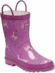 Regatta - Kids Minnow Printed Wellington Boots - Laarzen - Kinderen - Maat 28 - Roze