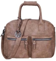 Wimona Alessia Two 1107 Schoudertas / Laptoptas - 15,4 inch - Taupe