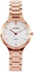 Prisma P.1463 Horloge staal/parelmoer rosekleurig 28 mm