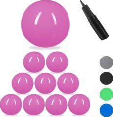 Relaxdays 10x fitnessbal 85 cm - gymbal - zitbal - yogabal - pilatesbal - kantoor - roze