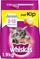 Whiskas Junior Kitten Multipack Droge Brokjes - Kip met Melk - Kittenvoer - 6 x 1.9 kg