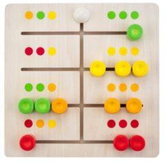 Rode Engelhart Educatief Abacus sliding puzzle 30 x 30 cm rubber wood 30 x 30 x 4,5cm