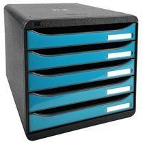 Blauwe Exacompta ladenblok Iderama Big Box+ zwart/turkoois