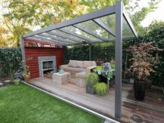 Van Kooten Tuin en Buitenleven Profiline terrasoverkapping - vrijstaand - 400x350 cm - polycarbonaat dak