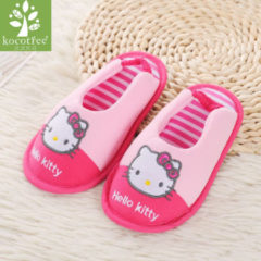Bambino Kocotree Cute Cat Style Kids Slippers Children Home Shoes Baby Shoes For Boys Girls Indoor Bedroom Brand Spring Cotton Slipper