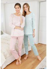 Schlafanzug Simone rosenholz/jade