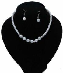 Witte Van Santen Fashion Charm Jewelry Ketting Parels met Oorbellen