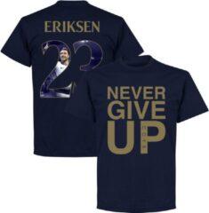 Marineblauwe Retake Never Give Up Spurs Eriksen 23 Gallery T-Shirt - Navy/ Goud - L
