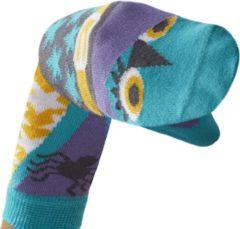 Paarse WALKYTALKIES - Kindersokken - Sokpop - Heks - Maat 27-30 - 5-6 jaar