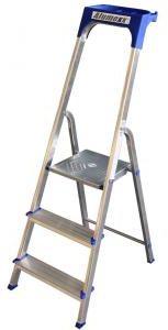 Afbeelding van Express Huishoudtrap aluminium 3-treden