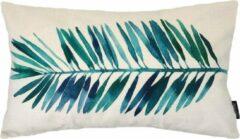Blauwe Gek op Kussens! Watercolor Palm Bladeren Long Kussenhoes | Katoen/Linnen | 30 x 50 cm