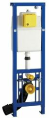 Wisa XS WC-element Vario m. frontbediening H130cm en 10cm in hoogte verstelbaar 3/6 liter max. 7.5 liter m. verstelplaat