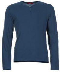 Blauwe T-Shirt Lange Mouw BOTD ETUNAMA
