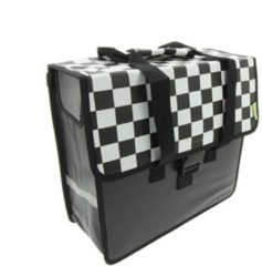 Zwarte Beck Shopper Black Checker enkele fietstas 18 liter