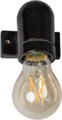 ETH Expo ETH vintage wandlamp glad porselein zwart E27