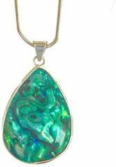 Blauwe Simbolica Fair Trade Druppel schelp parelmoer zilver