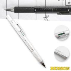 Zilveren Hofftech Multi Pen Met Waterpas En Schroevendraaier