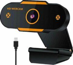 Oranje DrPhone CW8 2K Webcam 2560*1440p met Microfoon & Autofocus - 30fps - voor o.a Zoom Meetings/ Videogesprekken/Onderwijs etc