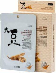 Witte Mitomo Japan Mitomo™ Soybean Gezichtsmasker - Anti Aging Face Mask - Gezichtsverzorging Masker