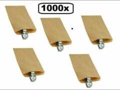 Thema party 1000x Papieren zak kraft 15x22cm 40 gram bruin