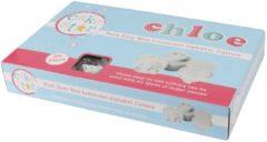 Witte Cake Star Push Easy Uitstekers Mini Alfabet Kleine Letters Set/26