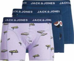 Paarse Jack & Jones JACK&JONES ACCESSORIES JACPIZZA & SUSHI TRUNKS 3 PACK Heren Onderbroek - Maat M