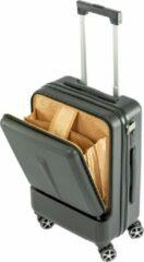 Zwarte MaxxHome Handbagage - reiskoffer - ABS slot - IATA trolley - laptop vak 60x40x26cm