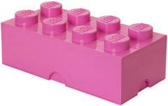 Roze Lego Opbergbox Brick 8 - 50 cm x 25 cm x 18 cm - Fuchsia