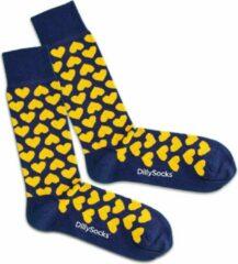 Blauwe DillySocks Dilly socks Heart Blues Sock