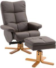 HOMCOM Relaxsessel Fernsehsessel mit Hocker Liegefunktion Relax-sessel Tv-stuhl Sessel mit Bein-Ablage