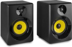 Studio monitor speakers - Vonyx SMN40B actieve studio monitor speakerset 100W - 4 inch - Zwart