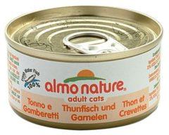 Almo Nature Hfc Cat Natural Blik 70 g - Kattenvoer - Tonijn&Garnaal Classic - Kattenvoer