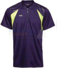 RSL T-shirt Badminton Tennis Paars/Geel maat XS