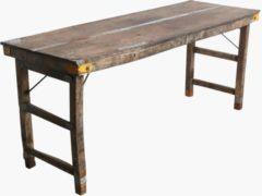 Bruine Raw Materials Markttafel - Gerecycled hout - Inklapbaar - 173 cm