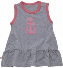 Minymo - newborn baby jurk - model Fida - grijs roze - Maat 56