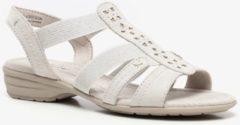 Licht-grijze Scapino Softline sandalen off white