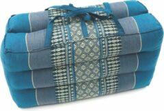 VDD Thai thoughts Meditatie en yoga zitkussen matje opvouwbaar draagbaar 40 cm x 40 cm x 7 cm Blauw