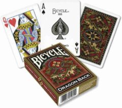 Gouden American Playing Card Company Pokerkaarten Gold Dragon Back,Bicycle