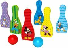 Disney Kegelspel Mickey Mouse Junior 18 Cm Hout 8-delig