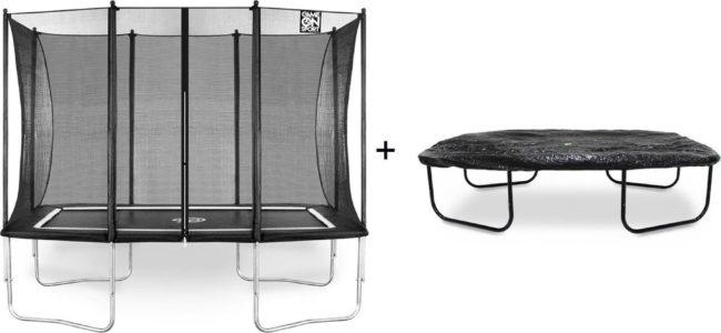 Afbeelding van Zwarte Game On Sport Jumpline rechthoekige trampoline 163 x 215 cm