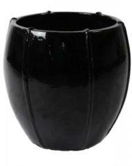 Zwarte Ter Steege Moda pot 55x55x55 cm Black bloempot