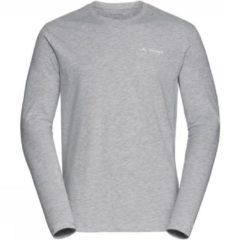 Licht-grijze VAU - Vaude Brand LS Shirt Lichtgrijs Mengeling