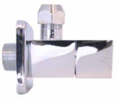 Plieger design hoekstopkraan vierkant 1/2 bu.dr.x10mm chroom 4058020