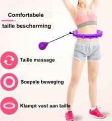 Evolution Fit® Hoelahoep - Fitness Hoelahoep met gewicht - Verstelbare band - Paars
