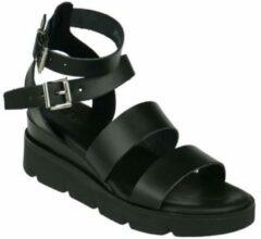 Red Rag 79384 leren sandalen zwart