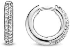 Ti Sento Milano TI SENTO - Milano 7557ZI Zilveren gerhodineerde oorringen met zirkonia 18 mm