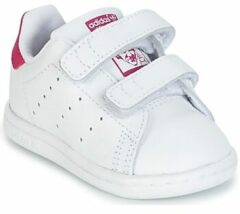 Adidas Originals Stan Smith CF I leren sneakers wit/roze