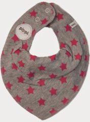 Pippi babywear - slabbetje - ster - 2-pack - grijs fuchsia