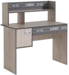Schreibtisch Esche/ grau mit Aufschrift Parisot Fabric 8