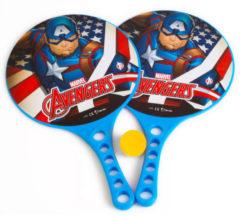 Marvel Beachbalset Avengers Jongens 36,5 Cm Blauw 3-delig 2 Rackets